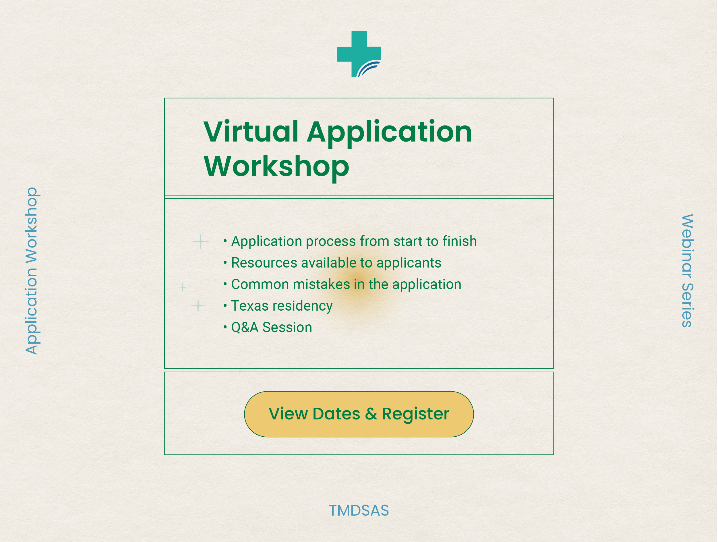 upcoming application workshop webinar